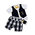 Petit Lem Mr. Hipster 3-Piece Shorts Set in Navy/White