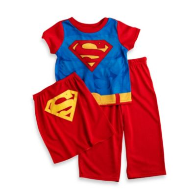 Superman Size 2T 2-Piece PJ Cape Set