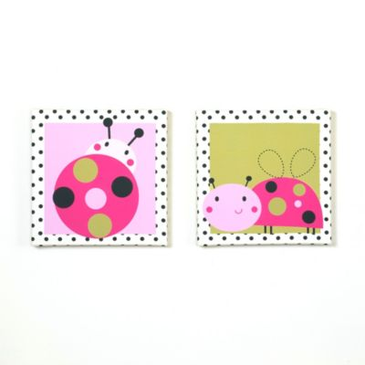 Belle Lil' Ladybug 2-Piece Canvas Art Set