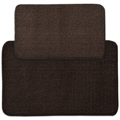 Garland Berber Rib 2-Piece Kitchen Rug Set in Chocolate