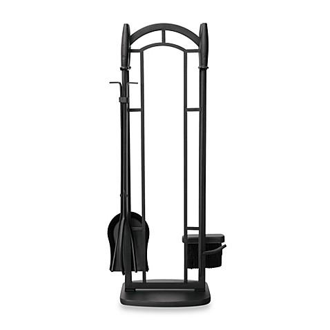 Uniflame 5 Piece Fireplace Tool Set In Black