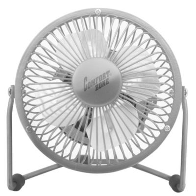 Comfort Zone® 4-Inch Cradle High Velocity Dual Powered Fan in Chrome