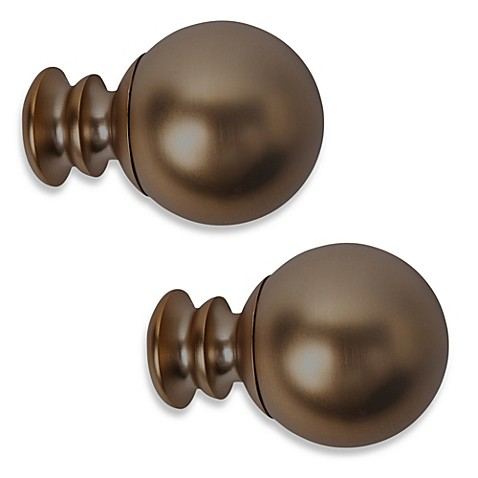 Cambria® Premier Complete Paragon Finial in Oil Rubbed Bronze (Set of 2)