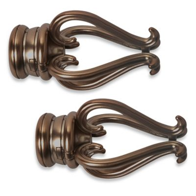 Cambria® Premier Complete® Florentine Finial in Oil Rubbed Bronze (Set of 2)