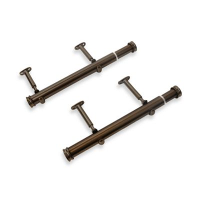 Cambria® Premier 12-Inch–20-Inch Side Mount Drapery Rods in Oil Rubbed Bronze (Set of 2)