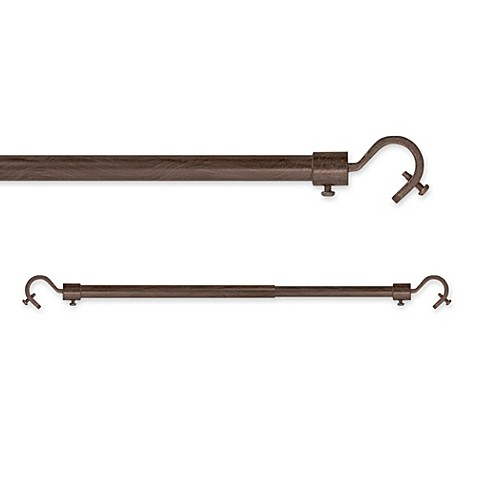 28 inch x 70 inch window curtain rod in brown from bed bath amp beyond