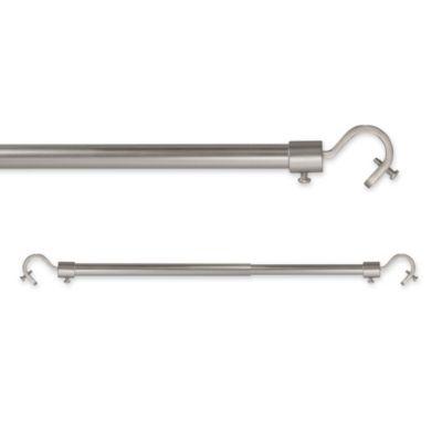 Universal Add-A-Rod 28-Inch x 70-Inch Window Curtain Rod in Pewter