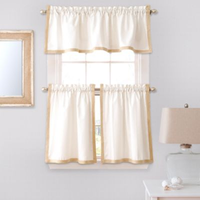 Seaview 36-Inch Window Curtain Tier Pair in White