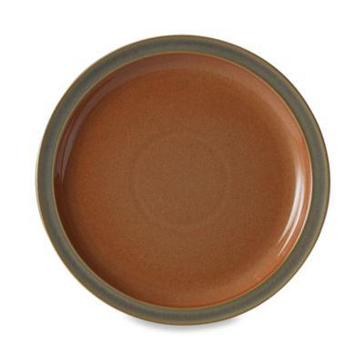 Denby Duets Salad/Dessert Plate in Sage/Paprika