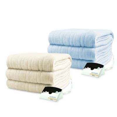 Biddeford Blankets® Comfort Knit Heated Full Blanket in Cloud Blue