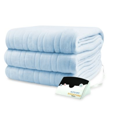 Biddeford Blankets® Comfort Knit Heated King Blanket in Cloud Blue