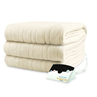 Biddeford Blankets® Comfort Knit Heated Twin Blanket in Natural
