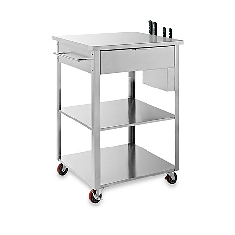 Buy Crosley Culinary Rolling Prep Kitchen Cart In Stainless Steel From Bed Bath Beyond