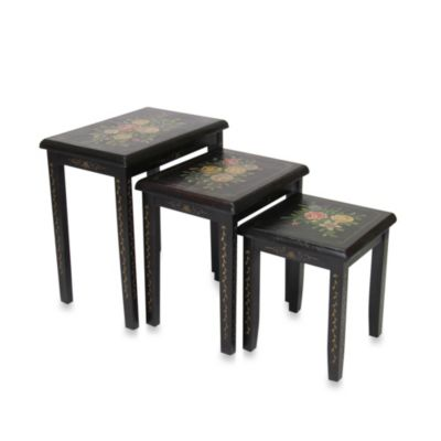Floral Nesting Tables (Set of 3)