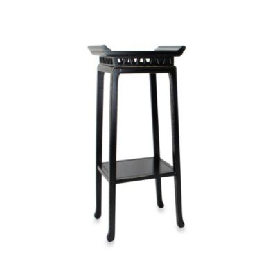 Chow Pedestal Table in Antique Black
