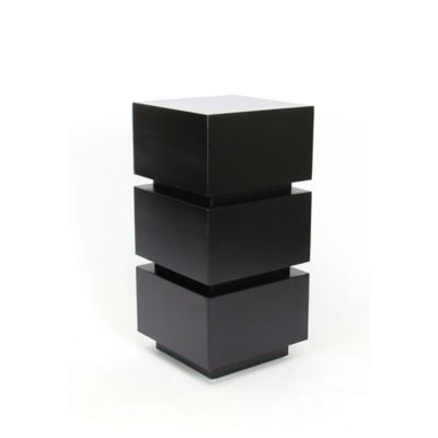 Nathan Wooden Pedestal in Black