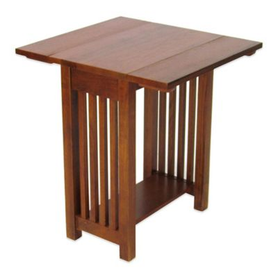 Wood Accent Table with Drop Leaves