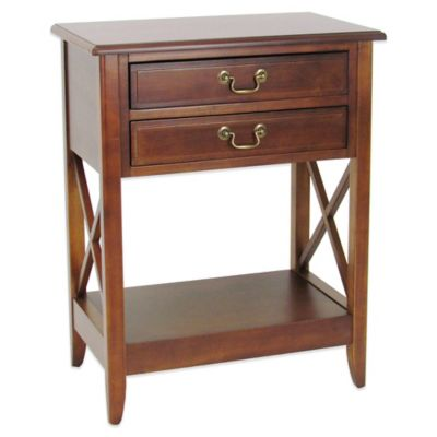Side Table with 2 Drawers