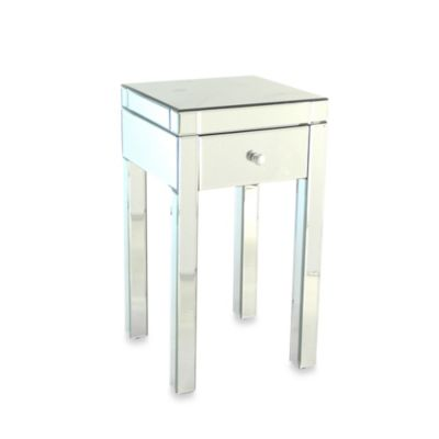 Beveled Mirrored Side Table
