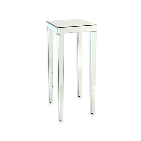 Buy Beveled Mirror Pedestal Stand Side Table From Bed Bath