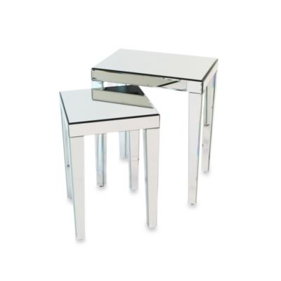 Beveled Mirror Nesting Tables (Set of 2)