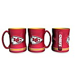 NFL Kansas City Chiefs 15-Ounce Sculpted Coffee Mug