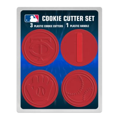 MLB Minnesota Twins 4-Piece Cookie Cutter Set