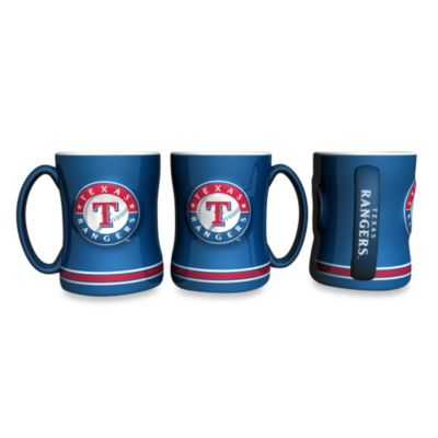 MLB Texas Rangers Sculpted Relief Mug