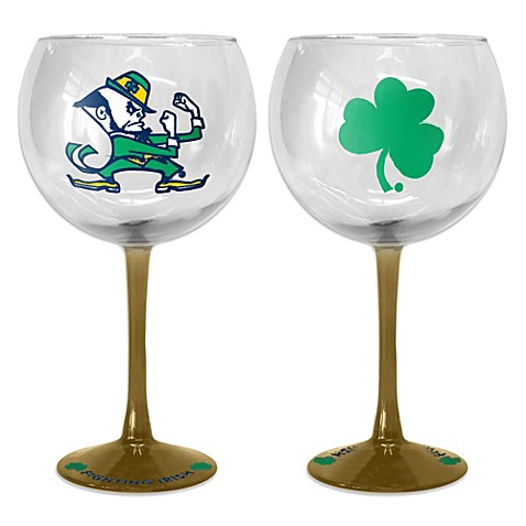 Notre Dame Crafted Balloon 20-Ounce Wine Glass