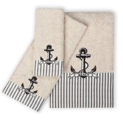 India Ink Beach Cottage Hand Towel
