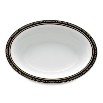 Vera Wang Wedgwood® With Love Noir 9.75-Inch Oval Open Vegetable Bowl