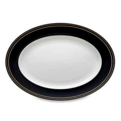 Vera Wang Wedgwood® With Love Noir 13.75-Inch Oval Platter