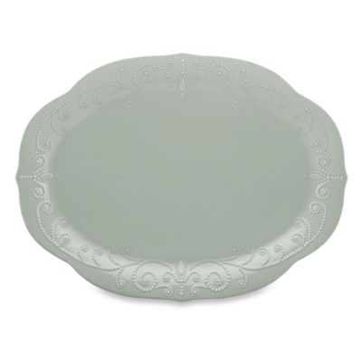 French Perle Oval Platter in Grey