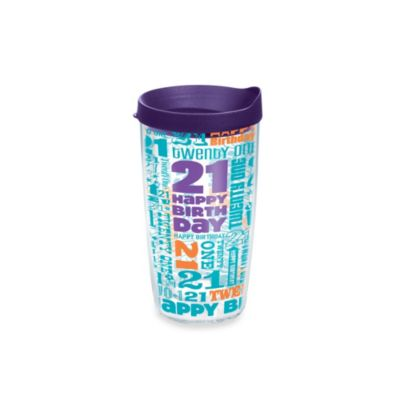 Tervis® 21st Birthday 16-Ounce Tumbler with Lid