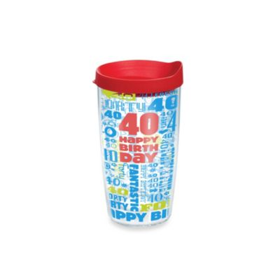 Tervis® Happy 40th 16-Ounce Tumbler with Lid