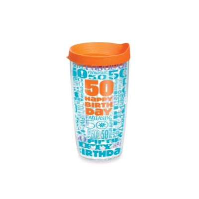 Tervis® Happy 50th 16-Ounce Tumbler with Lid