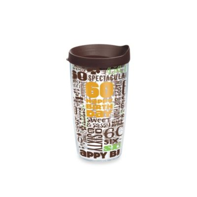 Tervis® Happy 60th 16-Ounce Tumbler with Lid