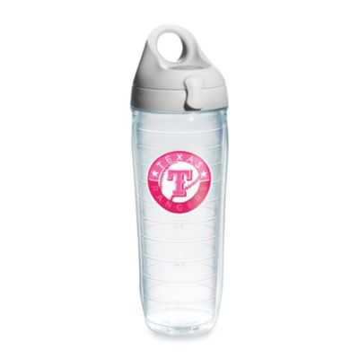 Tervis® Texas Rangers Emblem 24–Ounce Water Bottle with Lid in Neon Pink