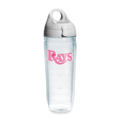 Tervis® Tampa Bay Rays Emblem 24–Ounce Water Bottle with Lid in Neon Pink