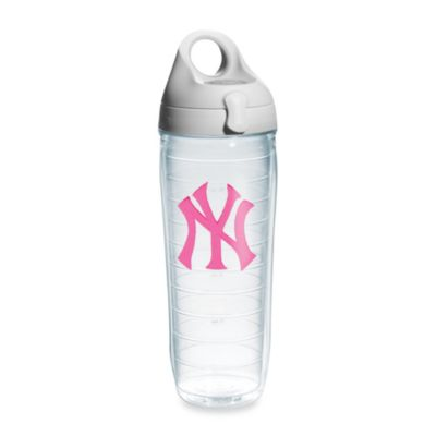 Tervis® New York Yankees Emblem 24–Ounce Water Bottle with Lid in Neon Pink