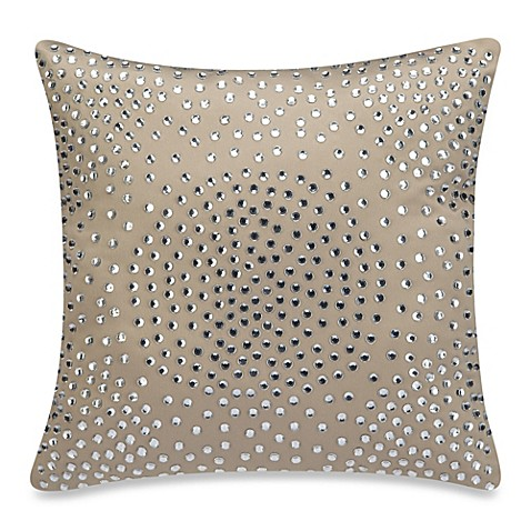 Decorative Jeweled Pillows : Iron Gates Rhinestones Square Throw Pillow - Bed Bath & Beyond
