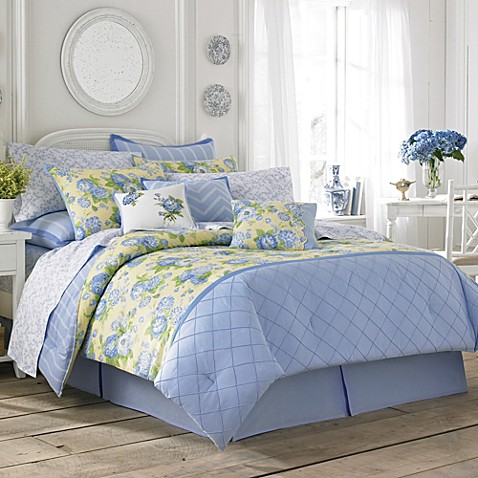 Buy laura ashley salisbury twin comforter set from bed - Blue and yellow bedding sets ...