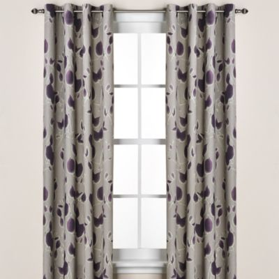 Kenneth Cole Reaction® Home Shadow Floral Window Panel Pair