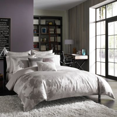Kenneth Cole Reaction Home Urban Bloom European Pillow Sham in Platinum
