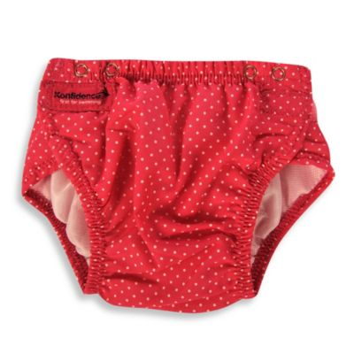 Konfidence™ One-Size Aquanappy Swim Diaper in Pink Polka Dot