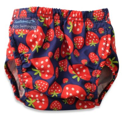 Konfidence One Size Aquanappy Swim Diaper with Strawberry Print