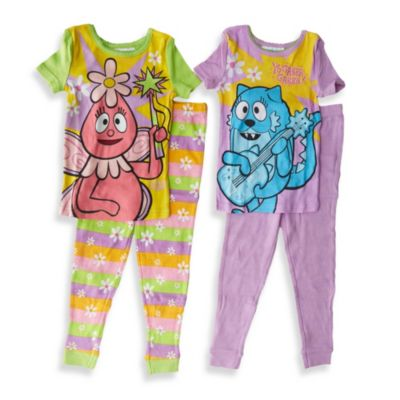 Yo Gabba Gabba 4-Piece Sleepwear Set