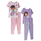 Doc McStuffins and Sofia the First 4-Piece Sleepwear