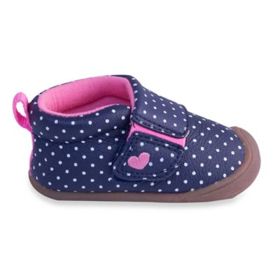 Carter's® Every Step Abby Size 2 Stage 1 Shoes in Navy Blue Dots