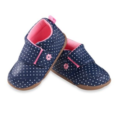 Navy Blue Dots Girls' Shoes